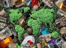 回收垃圾和环境 免版税库存图片