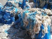 回收塑料 库存照片