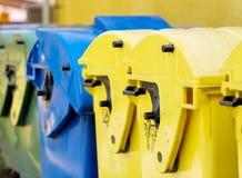 回收容器,废排序 免版税图库摄影