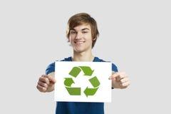 回收对一个更好的世界 免版税库存照片