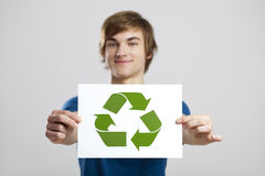 回收对一个更好的世界 库存图片