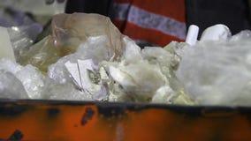 回收工厂劳工 股票视频