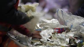 回收工厂劳工 股票录像
