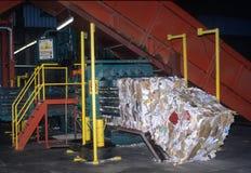 回收工厂 免版税库存照片