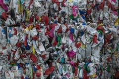 回收废物排序的植物 免版税图库摄影