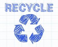 回收座标图纸 库存照片