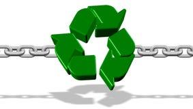 回收强的链接 库存图片