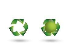 回收徽标 库存图片