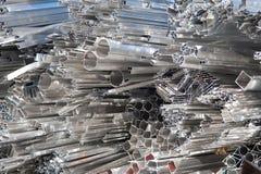 回收报废的铝 免版税库存照片