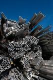 回收报废的铝 免版税图库摄影