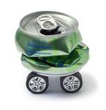回收持续力的金属车 免版税库存图片