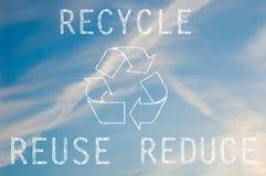 回收文本 免版税库存图片