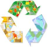 回收标志传染媒介 免版税图库摄影