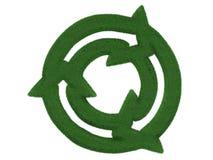 回收标志的草 免版税库存照片