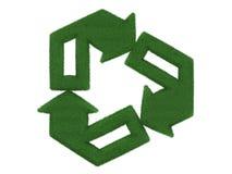 回收标志的草 库存照片