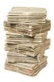 回收栈的报纸 免版税库存图片