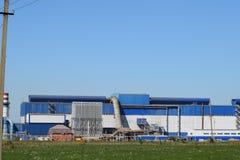 回收浪费的工厂 库存照片