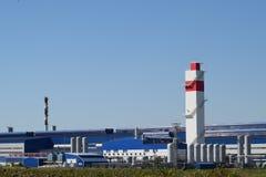 回收浪费的工厂 免版税图库摄影
