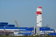 回收浪费的工厂 免版税库存图片