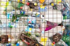 回收点的塑料宠物 免版税库存图片