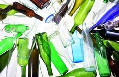 回收玻璃接近  免版税库存图片