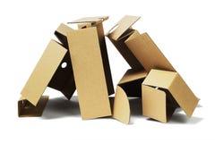 回收的包裹纸板 免版税库存照片