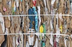 回收的纸板捆绑 库存图片