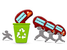 回收的脑子处理概念 免版税库存照片