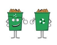 回收站字符 免版税图库摄影