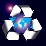 回收符号世界 图库摄影