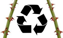 回收符号刺 库存图片
