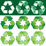 回收符号向量 免版税库存图片