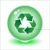 回收符号向量 免版税库存照片