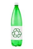回收符号水的瓶 库存照片