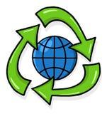 回收符号的例证 免版税库存图片