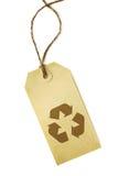 回收符号的标签 免版税库存图片