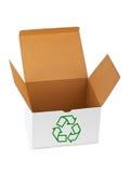 回收符号的配件箱 免版税库存图片