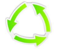 回收绿色图标 免版税图库摄影