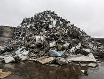 回收钢转储  库存图片