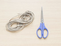 回收绳索与剪,概念为 图库摄影