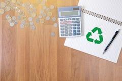 回收绿色生物eco森林挽救环境和谐ecosyst 库存图片