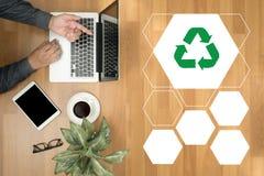 回收绿色生物eco森林挽救环境和谐ecosyst 免版税库存照片