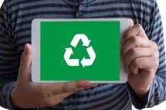回收绿色生物eco森林挽救环境和谐ecosyste 免版税图库摄影