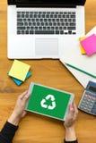 回收绿色生物eco森林挽救环境和谐ecosyste 库存图片