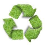 回收从绿草的商标标志 库存照片