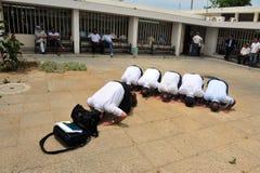 回教人员祈祷 免版税库存照片