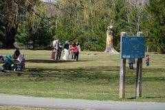 回教公共野餐在公园(1) 库存照片