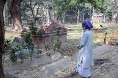 回教公墓在加尔各答 库存图片