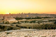 回教国的国王奥马尔清真寺在耶路撒冷。 免版税库存图片
