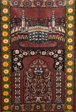 回教地毯为祈祷seccade 免版税库存照片